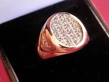 10K Solid Yellow Gold Pave Diamond Ring Size 10