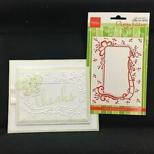 Elegant Frame Embossing Folder Anja's Decorative Rectangle DF3406 Marianne