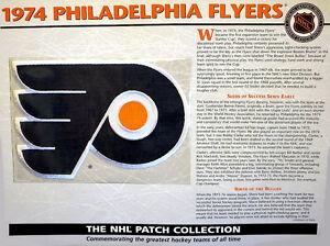 WILLABEE WARD  NHL THROWBACK HOCKEY PATCH & INFO CARD ~ 1974 PHILADELPHIA FLYERS