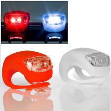 2x LED luz de bicicleta luz delantera luz trasera luces