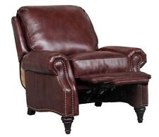 Barcalounger Avery Genuine Wenlock Fudge Leather Recliner Chair 7-2160  5702-87