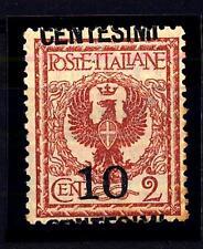 ITALIA - Regno - 1923/27 - Francobolli del 1901-20 - sovr. 10 su 2 c. - Varietà