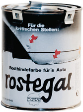 rostegal Grundierfarbe Auto-Rostegal schwarz, 1,0L Rostbindefarbe Rostschutz