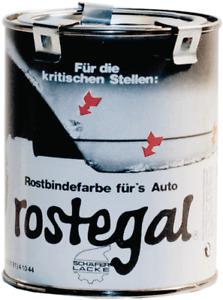 rostegal Grundierfarbe Auto-Rostegal schwarz, 0,5L Rostbindefarbe Rostschutz