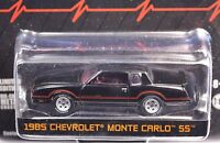 CHEVROLET MONTE CARLO SS 1985 BLACK GREENLIGHT HOBBY EXCLUSIVE 29814 1:64