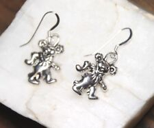 Garcia Bear Earrings Grateful Dead Teddy Bear pewter 1 pair 925 sterling silver