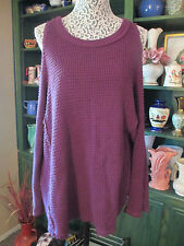 Free People exposed shoulder knit top,color,peacock purple,size M,comp.at $108.