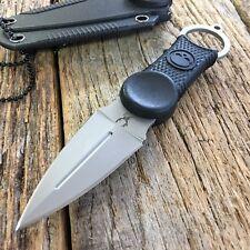 "Bone Edge 7"" Fixed Blade Tactical Survival Neck Knife W/Sheath Black Handle -SA"