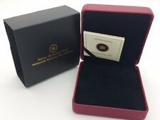 2010 Royal Canadian Mint $100 Gold Coin Anniversary Empty Red Leather Box COA
