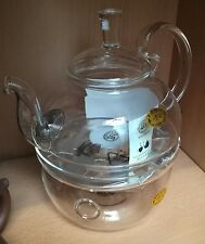 600ml glass tea pot  and warmer