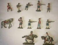 Vintage Lead Soldiers and Horses Various Conditions some pac, kel,mil,pir, bel