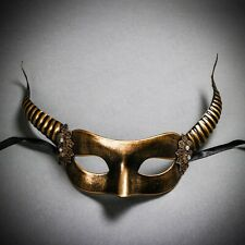 GOLD Sexy Women's Devil Horns Eye Mask Costume for Halloween Masquerade Party