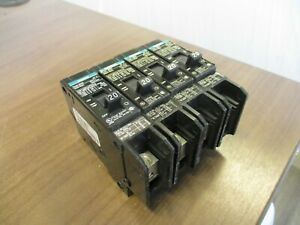Siemens Type BQD Circuit Breaker BQD120BP 20A 277V 1P *Lot of 4* Used