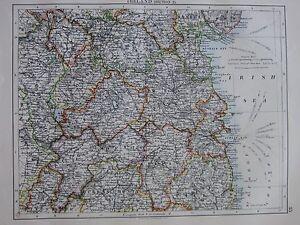 1897 VICTORIAN MAP ~ IRELAND MEATH KINGS COUNTY DUBLIN BAY WICKLOW LONGFORD