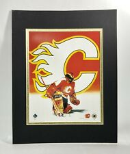 Calgary Flames NHL Hockey 1995 Goalie MATTED 11X14 Lithograph by Kelly Russell