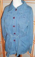Vintage denim jacket Mod Grunge K-Mart Made In Hong Kong, womens 15-16