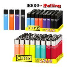 12 encendedores clipper soft touch 8 colores surtidos a elegir, 12 unidades