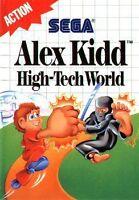 Alex Kidd In High Tech World Sega Master Great Condition Fast Shipping