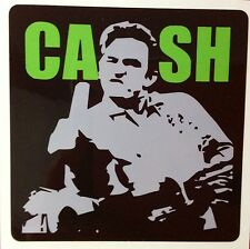 JOHNNY CASH  POP ROCK  ROCKABILLY DECAL STICKER