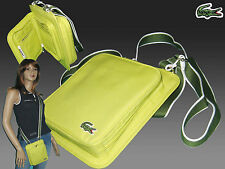LACOSTE Unisex Cross-over Shoulder Wallet Bag Casual 2.3 Sunny Lime AUTHENTIC
