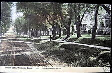 Wamego Kansas  ~1909 LOVER'S LANE ~ Un-Paved Street