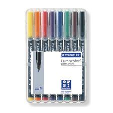 STAEDTLER Lumocolor Permanent Medium penne MARCATORE UNIVERSALE Desktop Wallet 8 PZ