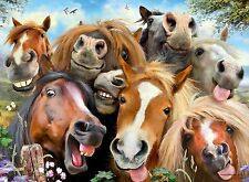 NEW! Ravensburger Selfies - Horsing Around 500 piece animal jigsaw puzzle 14695