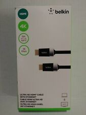 Genuine Belkin 4K High Speed Ultra HDMI Cable With Ethernet 5 Meter/16 Feet NIB