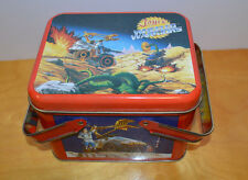 VINTAGE JAYCE AND THE WHEELED WARRIORS TIN METAL BOX 1980'S TOYS CARTOONS MATTEL