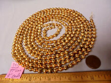"Christmas Garland Mercury Glass Antique Gold 97"" Long 1/4"" Beads #741 Vintage"