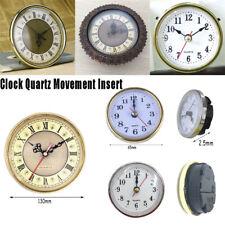 65mm/190mm Quartz Clock Movement Insert Roman Numeral White Face Gold Trim