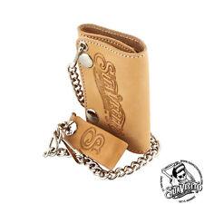 Suavecito Men's Tri-Fold Chain Wallet - Natural