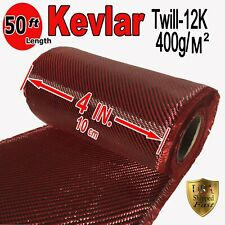 4 in x 50 FT -  fabric made with KEVLAR-CARBON FIBER Fabric - Twill -3K/200g/m2