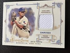 2014 Topps Allen & Ginter's Full Size Relics B #FRB-YD Yu Darvish Texas Rangers