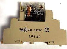 Omron G2R-2-SN Relay 125VAC w/Omron 1933C Relay Socket 5A 250 V Max (A468)