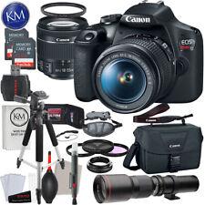 Canon EOS Rebel T7 DSLR Camera with 18-55mm & 500mm Lens Striker Bundle