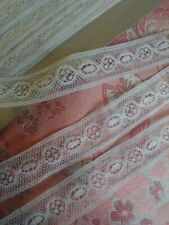 """.5"""" wide Very Fine French Antique Lace Val Trim 3 yards Teneriffe Cluny"""