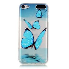 For iPod Touch 5 6 Ultra Thin Pattern Silicone TPU Soft Clear Back Case Cover