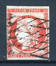 "FRANCE  STAMP TIMBRE N° 5 a "" TYPE CERES 40c ORANGE VIF 1850 "" OBLITERE TB  P682"
