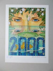 """Milo Manara ( Art Print ) """" 2000 """" , numérotée et signée au crayon"""