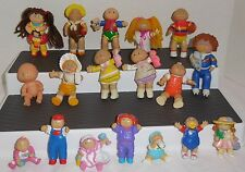 COLECO? Vintage 1980's CABBAGE PATCH KIDS CPK Poseable/PVC 18 Piece Figure Lot