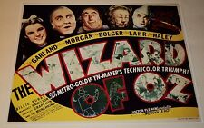 THE WIZARD OF OZ /  11 x 14  REPRODUCTION  LOBBY  CARD