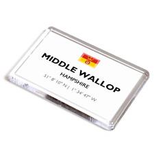 FRIDGE MAGNET - Middle Wallop, Hampshire - Lat/Long SU2937