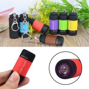 Waterproof USB Rechargeable LED Flashlight Lamp Pocket Keychain Mini Torch FM