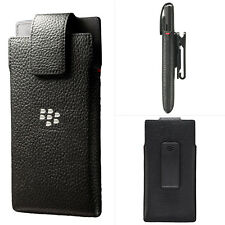 Genuine BlackBerry Leather Swivel Hostler Pouch Cover For Leap With Belt Clip