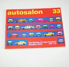 Autokatalog / Autosalon in Buchform Nr. 33 - Autotypen Übersicht Modelle 1980!