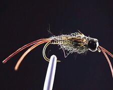 3 v fly 1//2 pouces noir ultime /& jaune skullhead salmon tube mouche /& V1 crochets