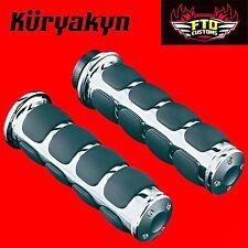 """Kuryakyn Chrome ISO®-Grips Universal 1"""" Handlebars for Honda & Suzuki 6240"""