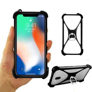 silicone soft case cover Housse étui Coque cas Ring holder stand Pour smartphone