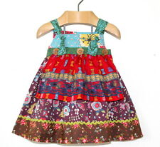 Matilda Jane Homegrown Paint by Numbers Peasant Knot Apron Dress Size 12 Months